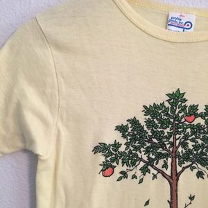 "Tops - Vintage Yellow ""If you don't like my peaches"" Tee"